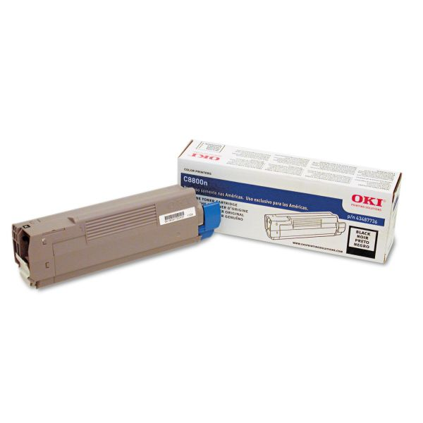 Oki 43487736 Black Toner Cartridge