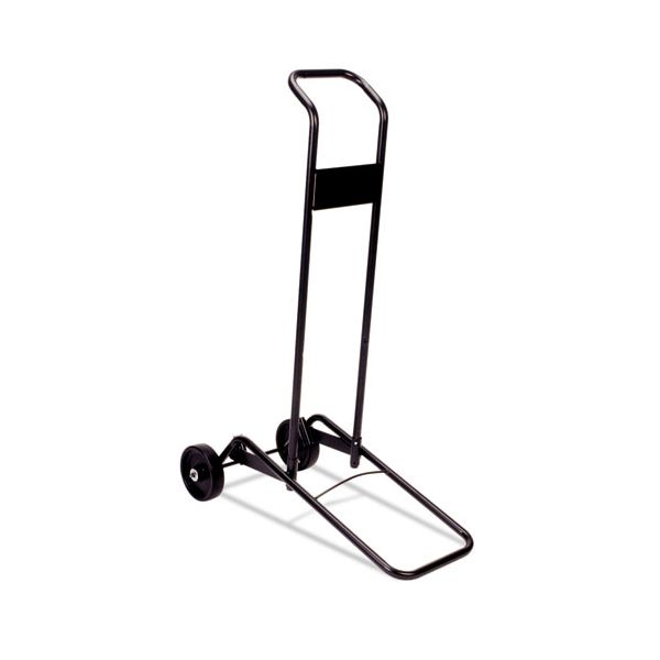 Stacking Chair Cart for up to Ten Chairs, Black Steel