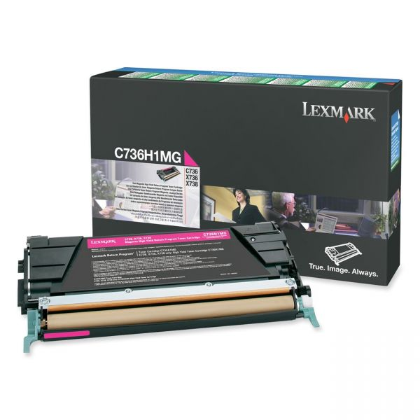 Lexmark C736H1MG Magenta High Yield Return Program Toner Cartridge