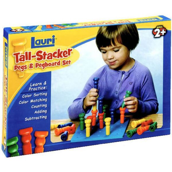 Tall-Stacker Pegs & Pegboard Set