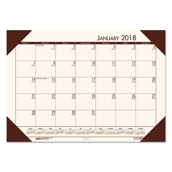 House of Doolittle EcoTones Monthly Calendar Desk Pad