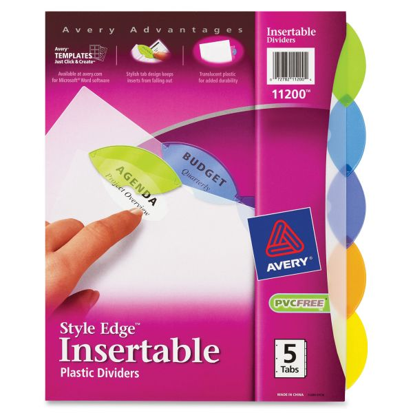 Avery Style Edge Insertable Tab Index Dividers