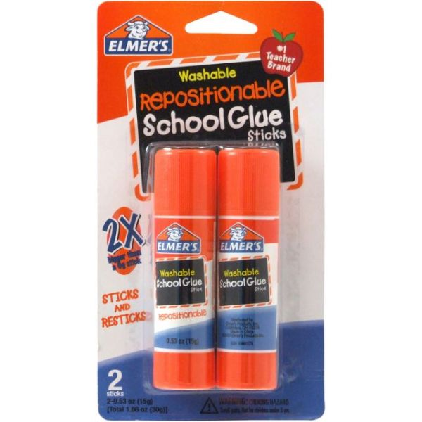 Elmer's Repositionable School Glue Sticks 2/Pkg
