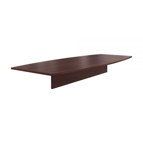 "HON Preside Laminate Table Top | Boat Shape | 120""W 