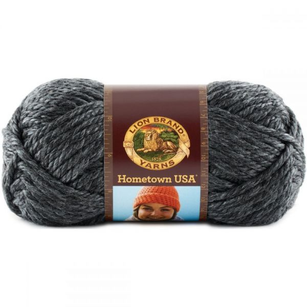 Lion Brand Hometown USA Yarn - Chicago Charcoal
