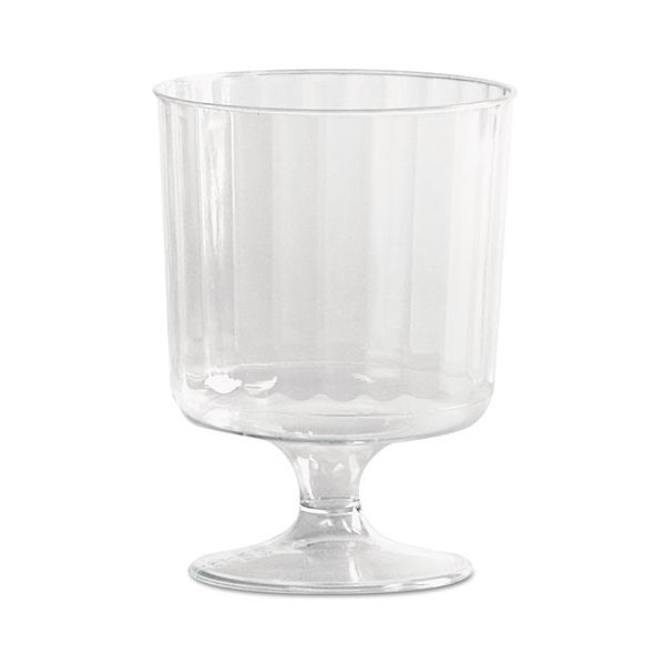 WNA Classic Crystal Plastic Wine Glasses on Pedestals