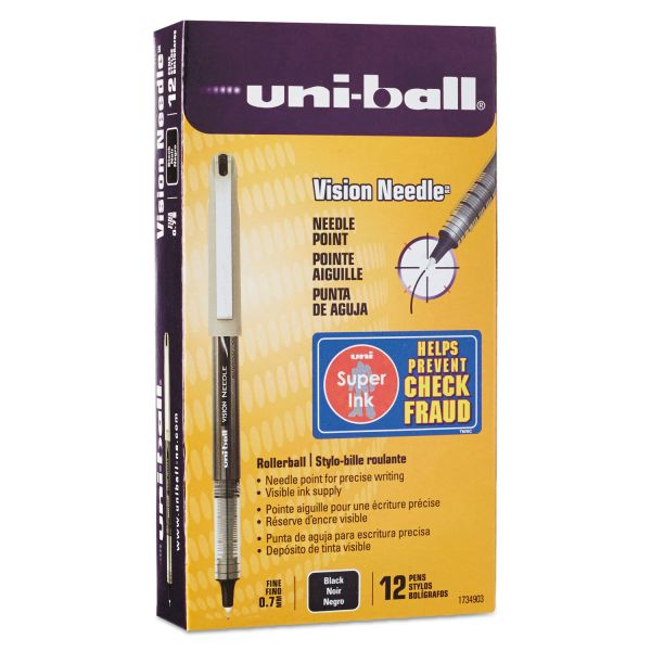 Uni-Ball Vision Needle Rollerball Pens