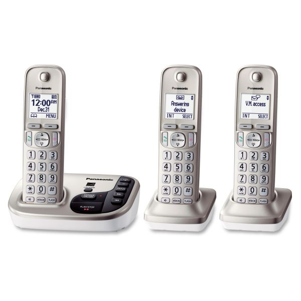 Panasonic KX-TGD223N DECT 6.0 1.90 GHz Cordless Phone - Champagne Gold