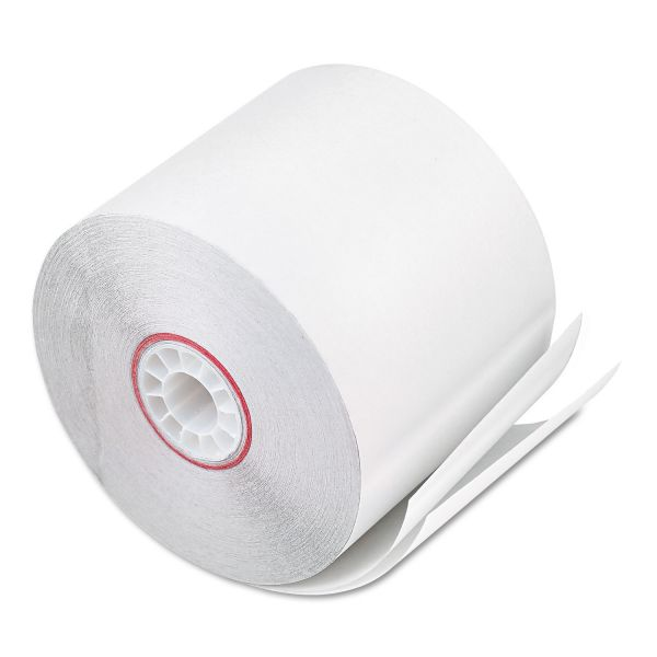 """PM Company Paper Rolls, Two Ply Receipt Rolls, 2 1/4"""" x 90 ft, White/White, 50/Carton"""