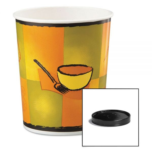 Huhtamaki Soup Food Containers w/Vented Lids
