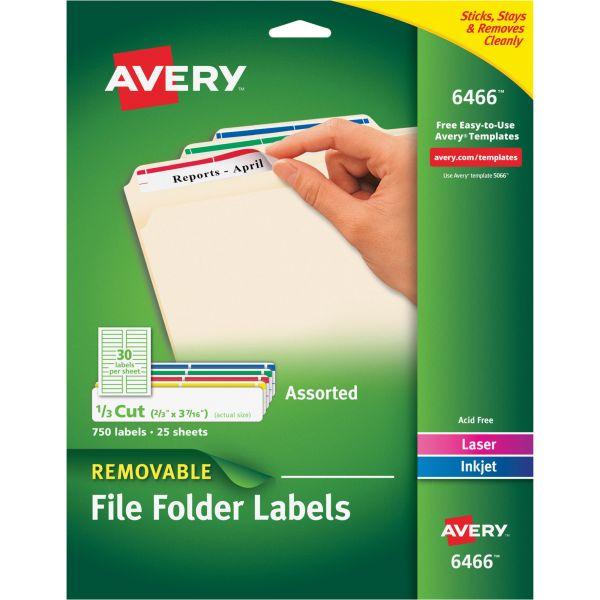 Avery Removable File Folder Labels