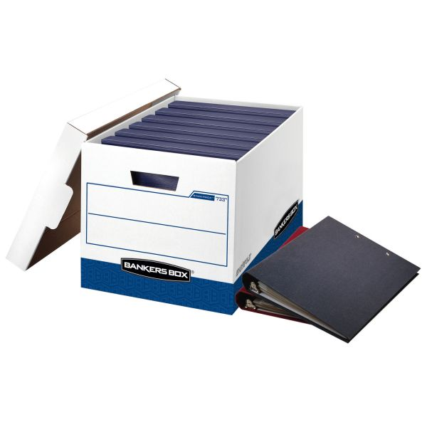 Bankers Box Binderbox Heavy-Duty Storage Boxes With Lift-Off Lids