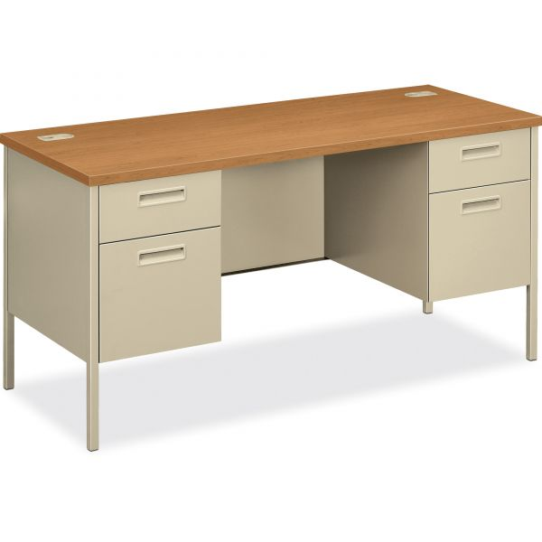 """HON Metro Classic Double Pedestal Credenza with Kneespace 