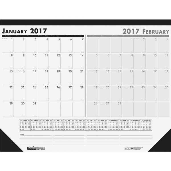 House of Doolittle Two-Month Desk Pad Calendar