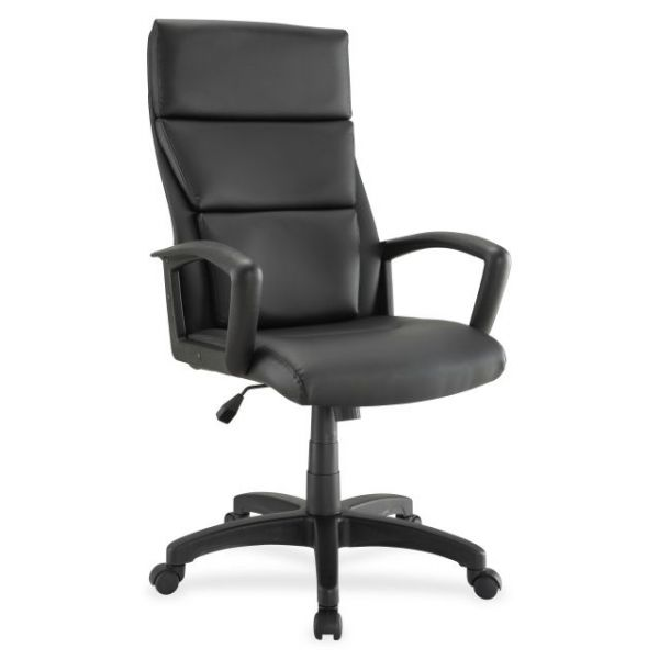 Lorell Euro Design Leather Executive High-Back Office Chair