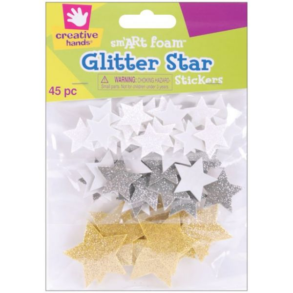 Foam Glitter Stickers 45/Pkg