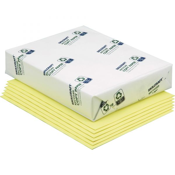 SKILCRAFT Recycled Colored Paper - Yellow