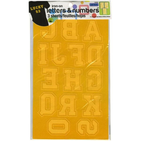 "Soft Flock Iron-On Letters & Numbers 1.75"" Collegiate"