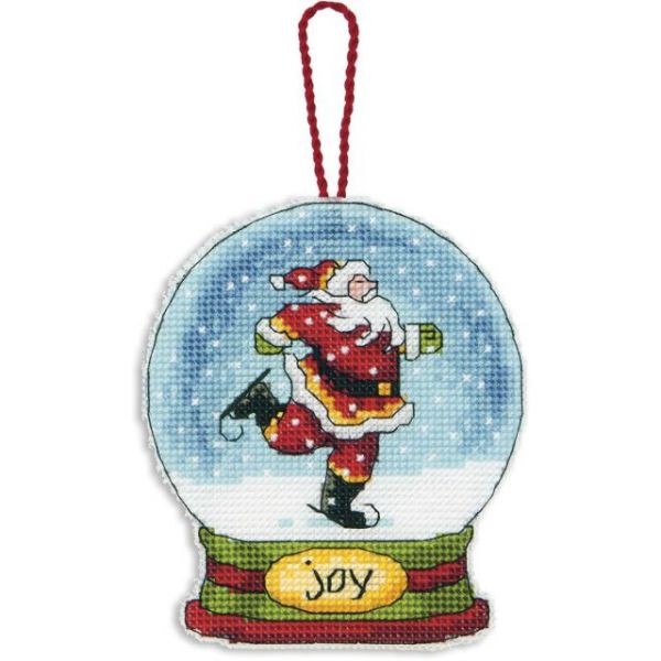 Dimensions Joy Snowglobe Counted Cross Stitch Kit