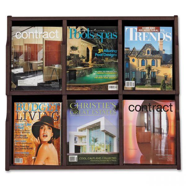 Safco Expose 6-Pocket Magazine/Pamphlet Display Rack