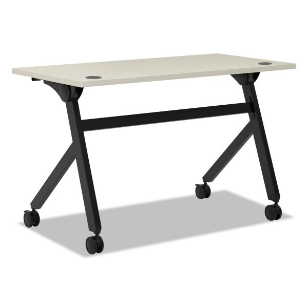 HON Multipurpose Table Flip Base Table, 48w x 24d x 29 3/8h, Light Gray