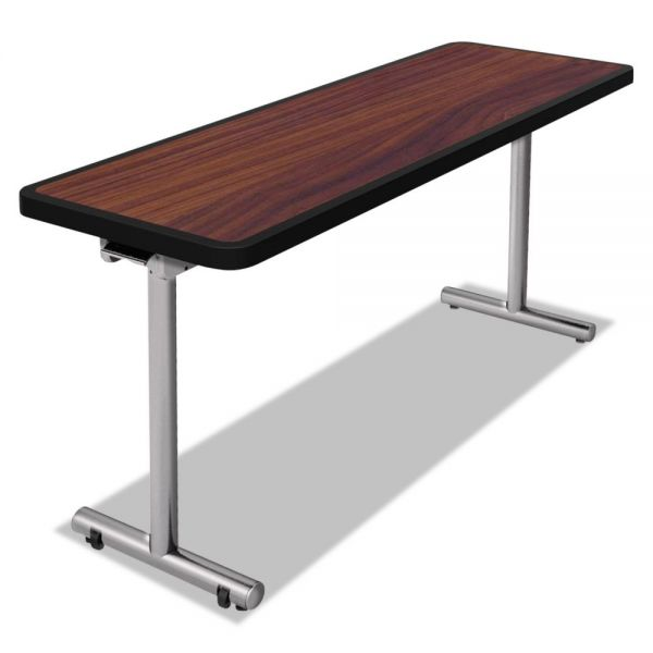 Nomad by Palmer Hamilton aero Mobile Folding Table, 72 x 24 x 29, Walnut