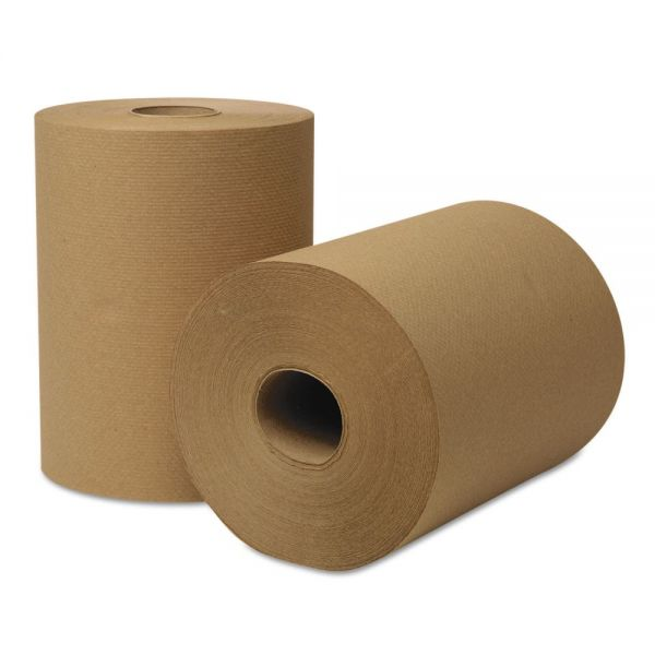 Wausau Paper EcoSoft Hardwound Roll Towels, 425 ft x 8 in, Natural, 12 Rolls/Carton