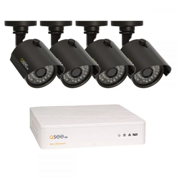 Q-see 4 Channel HD Security System with 4 HD 720p Cameras QTH4-4Z3-1