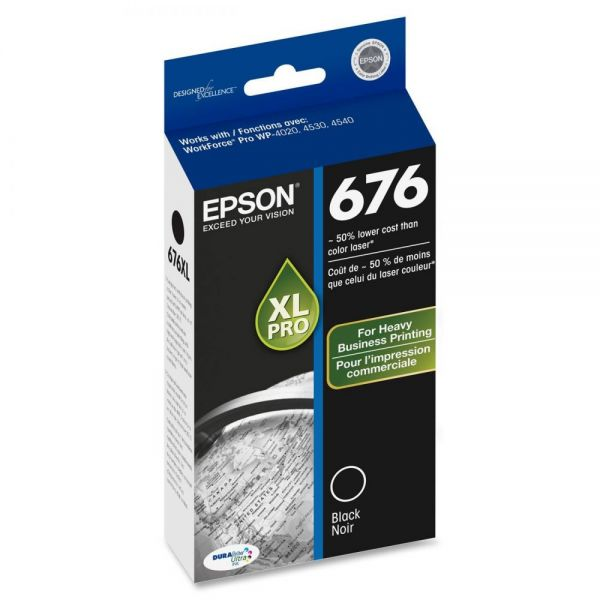 Epson 676 XL Black High Yield Ink Cartridge (T676XL120)