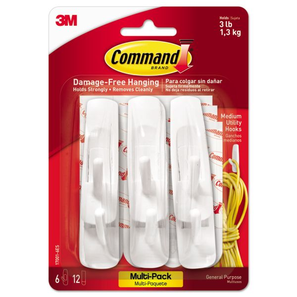 Command Strip Adhesive Hooks