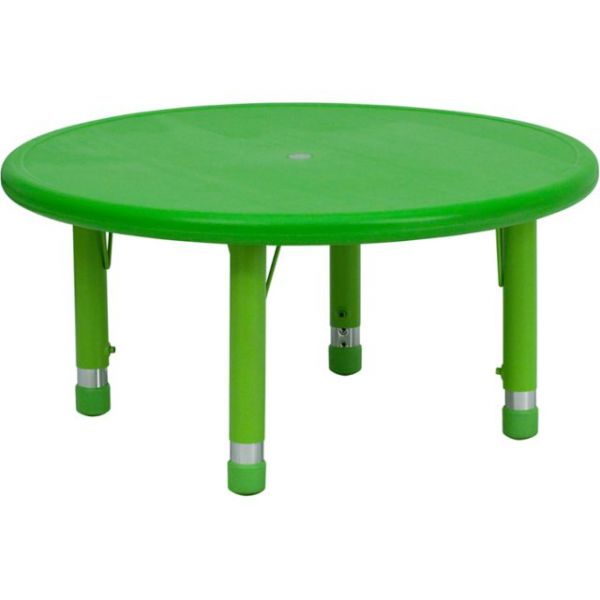Flash Furniture Round Height Adjustable Activity Table