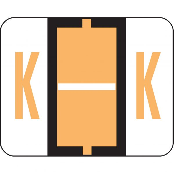 Smead BCCR Bar-Style Color-Coded Alphabetic Label - K