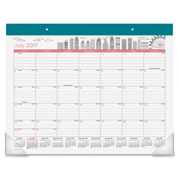 At-A-Glance Paint the Town Academic Monthly Desk Pad