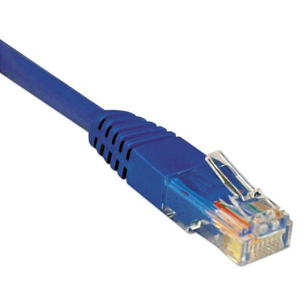Tripp Lite CAT5e Molded Patch Cable, 7 ft., Blue