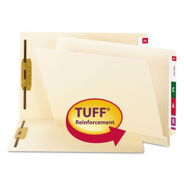 Smead Reinforced End Tab File Folders With Fasteners