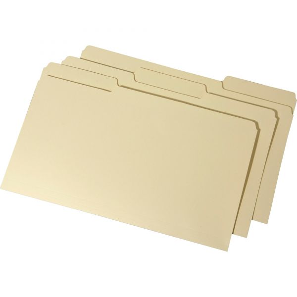 SKILCRAFT Interior Height Top Tab Manila File Folders