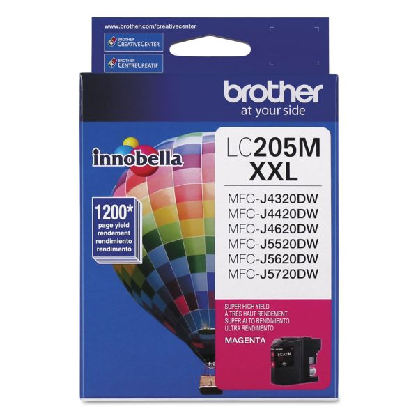 Brother Innobella Super High-Yield LC205M XXL Magenta Ink Cartridge