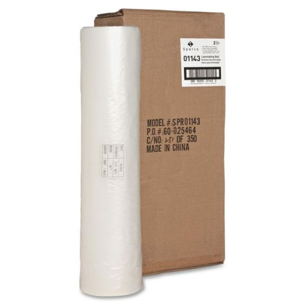 "Sparco 1"" Core Clear Laminating Roll"