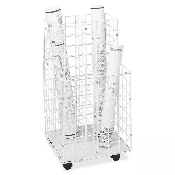Safco 4 Compartments Mobile Wire Storage File