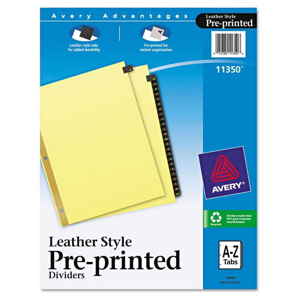 Avery Leather Style Alphabet Tab Index Dividers