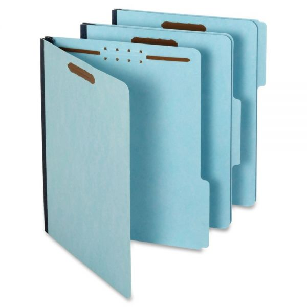 GLOBE-WEIS Recycled Pressboard File Folders with Fasteners