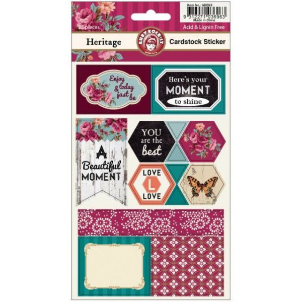 Heritage Cardstock Stickers 2 Sheets/Pkg
