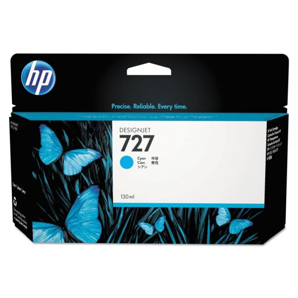 HP 727 Cyan Ink Cartridge (B3P19A)
