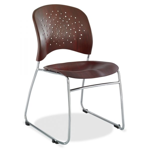 Safco Reve Plastic Wood Back Guest Chair