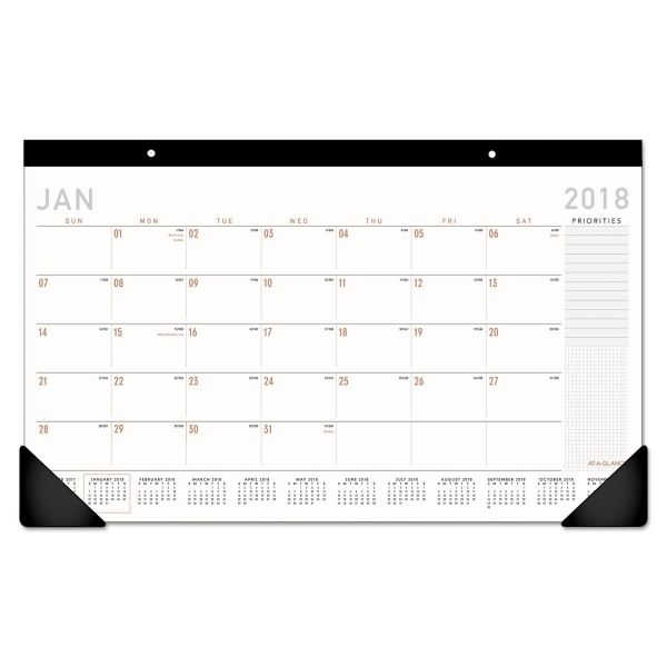 At-A-Glance Recycled Compact Desk Pad Calendar
