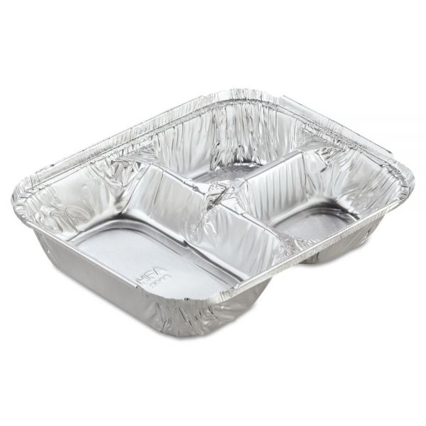 Handi-Foil Aluminum Oblong Compartment Containers