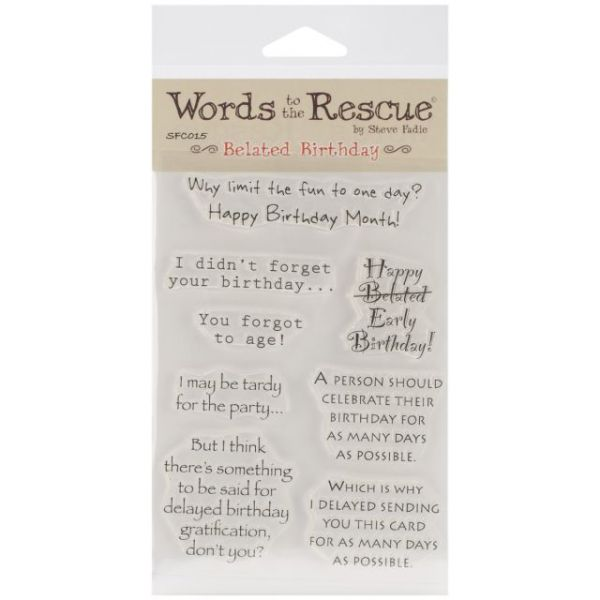 "Words To The Rescue Clear Stamp Set 8""X4.5"""