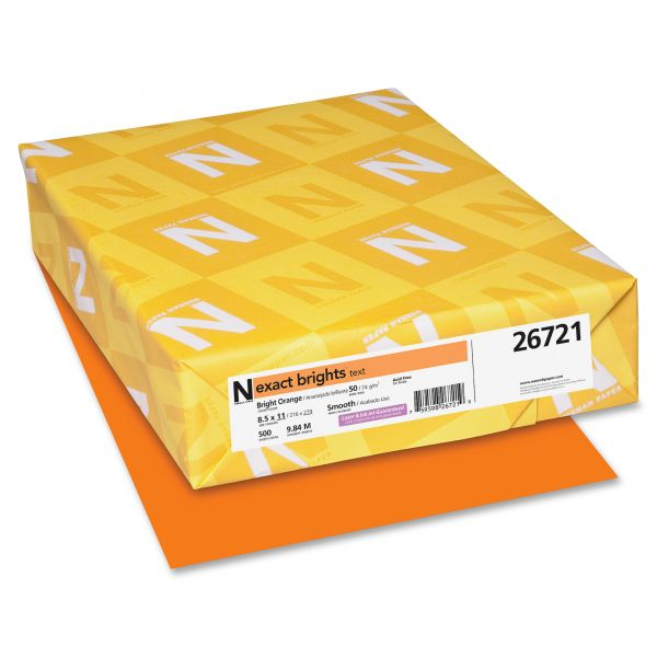 Neenah Paper Exact Brights Colored Paper - Bright Orange
