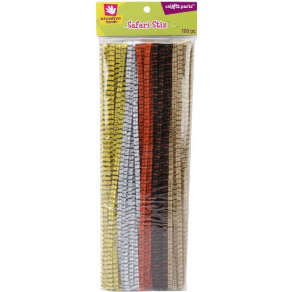 Striped Stix Chenille Stems - Pipe Cleaners