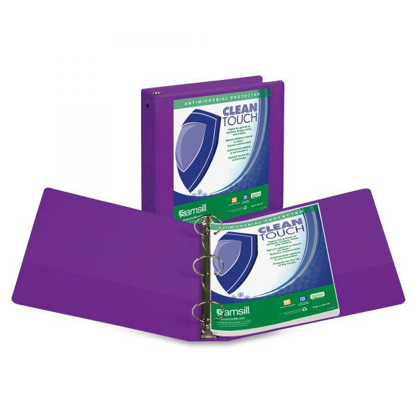 "Samsill Clean Touch 2"" 3-Ring View Binder"
